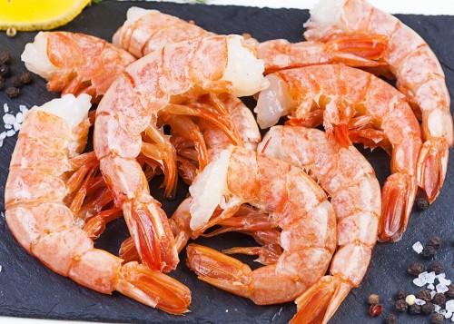 Argentininės raudonosios krevetės C1, 30/55, be galvos, su kiautu, 12 kg, šaldytos