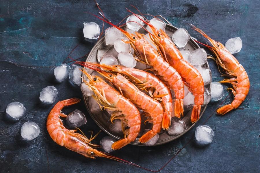 Argentininės raudonosios krevetės L2, 21/30, su galva, su kiautu, 2 kg, šaldytos