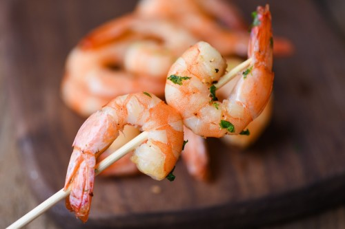 Baltakojos blyškiosos krevetės iešmeliai, 41/50,10 kg, šaldytos