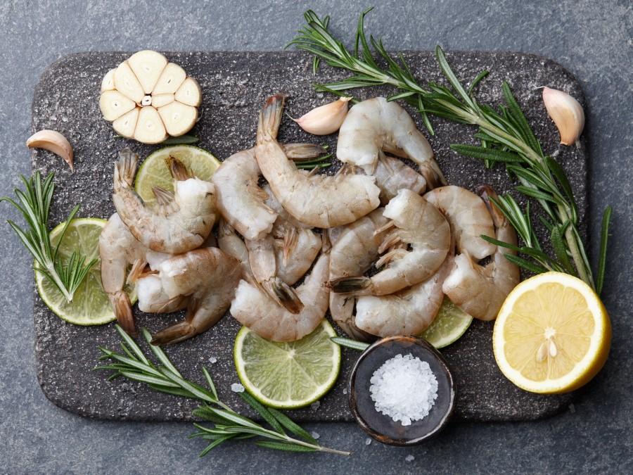Didžiosios tigrinės krevetės, 41/50, be galvos, be kiauto, 1 kg, šaldytos