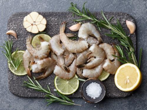 Didžiosios tigrinės krevetės, 41/50, be galvos, be kiauto, 10 kg, šaldytos